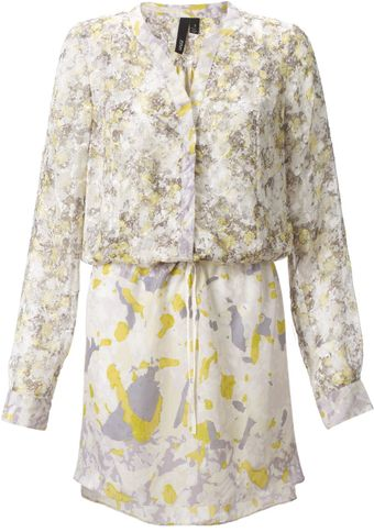 Edun Yellow Camo Print Shirtdress - Lyst