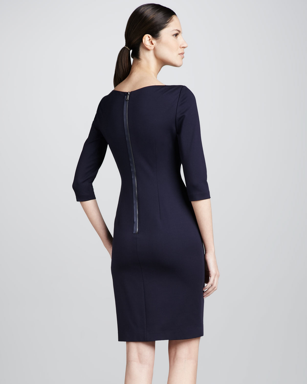 Elie tahari Patrina Envelopeshoulder Sheath Dress in Blue | Lyst