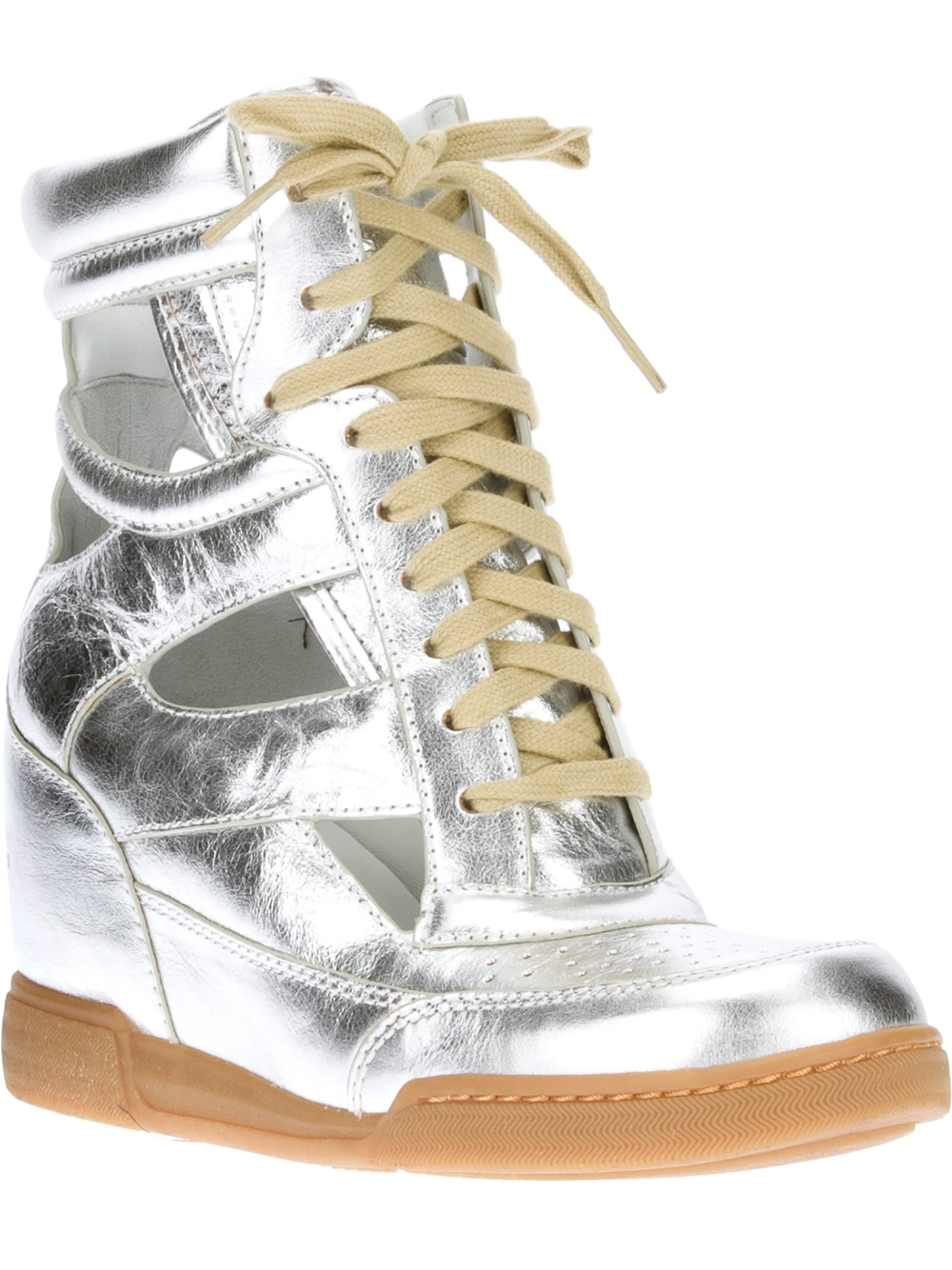 Marc By Marc Jacobs Wedge Sneaker In Silver Lyst