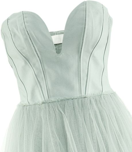 H&m Tulle Dress in Green