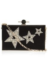 Jason Wu Star Embroidered Satin Box Clutch