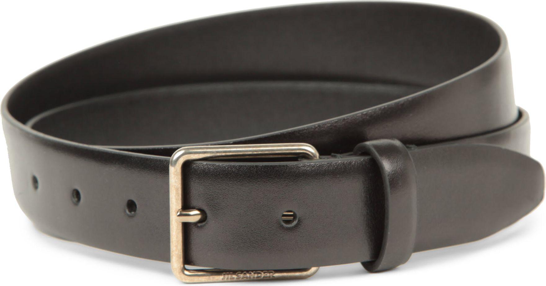 jil sander leather belt in black for lyst