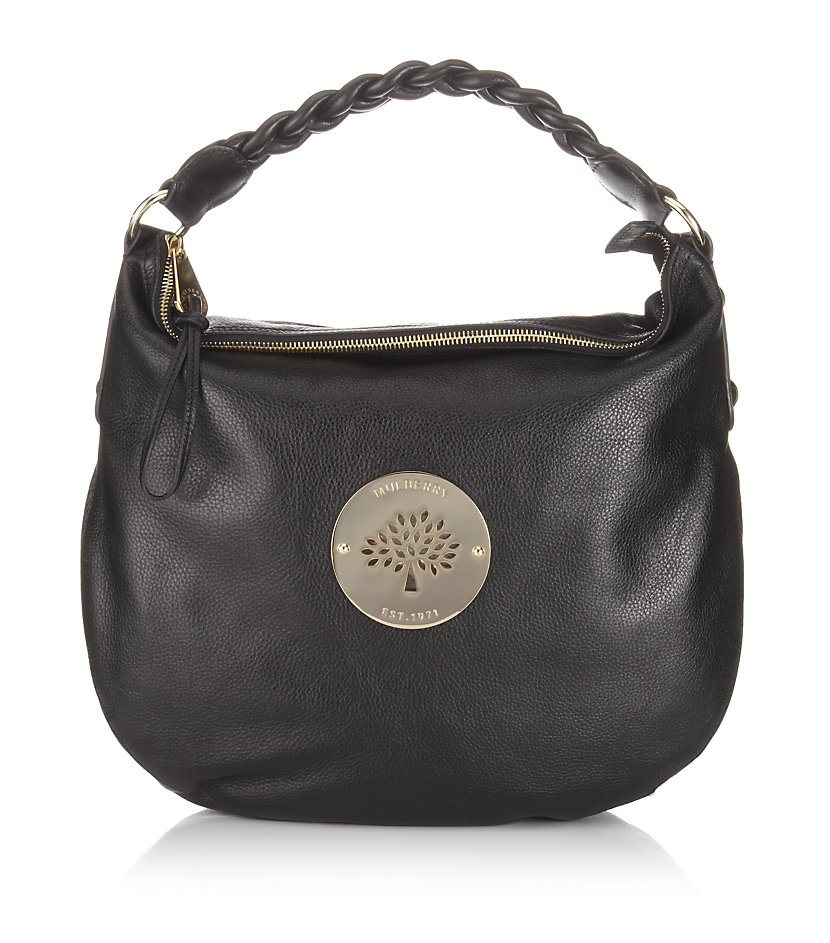 6b7f592ed8 Release Date Mulberry Daria Medium Hobo Shoulder Bag Black Tie B0816. Lyst  Mulberry Daria Clutch ...