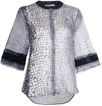 Preen Alligator Blouse - Lyst