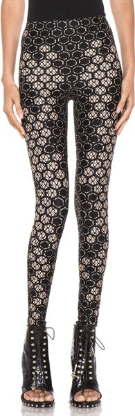 Alexander Mcqueen Honeycomb Legging in Flesh Black in Black (flesh & black) - Lyst