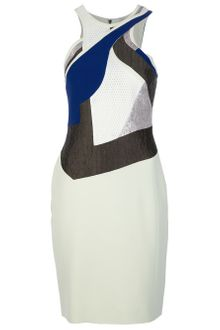 Antonio Berardi Tri-Colour Panelled Dress - Lyst
