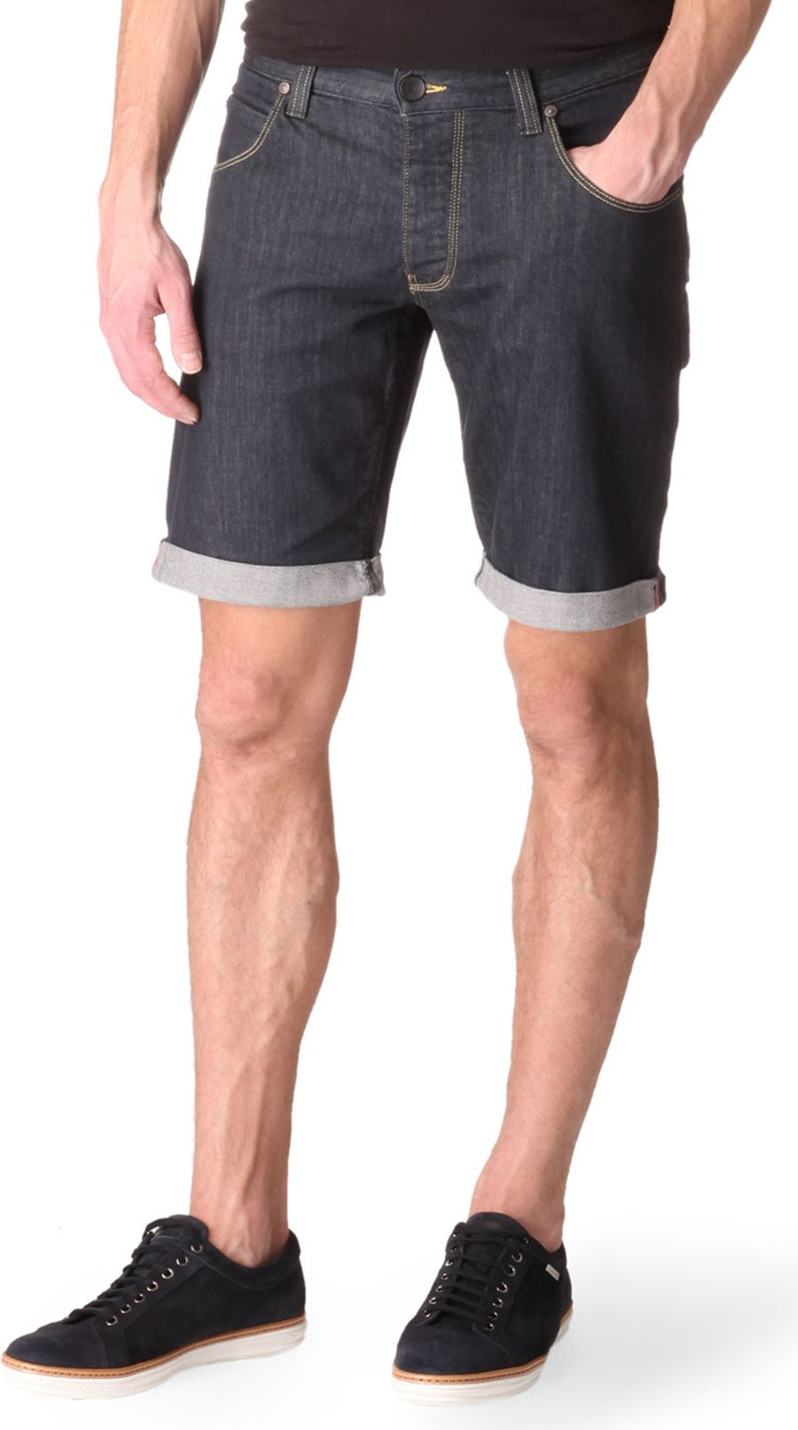 Armani jeans Selvedge Shorts in Blue for Men
