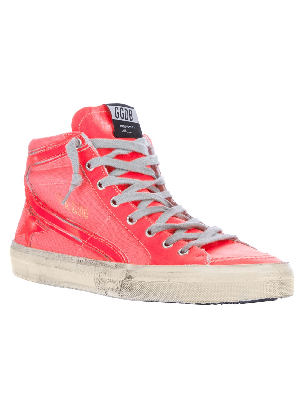 golden goose deluxe brand slide hi top trainer in pink for men lyst. Black Bedroom Furniture Sets. Home Design Ideas