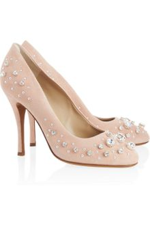 Moschino Cheap & Chic Crystal Embellished Suede Pumps - Lyst