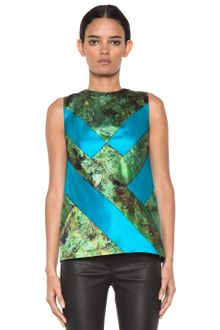 Proenza Schouler Sleeveless Printed Diamond Shell Top in Tree Scene - Lyst
