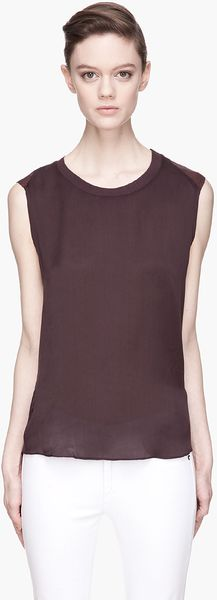 Theyskens' Theory Plum Purple Bana Shirt - Lyst