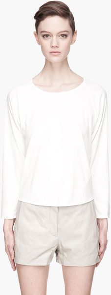 Theyskens' Theory White Dolman Sleeve Bristal Shirt - Lyst