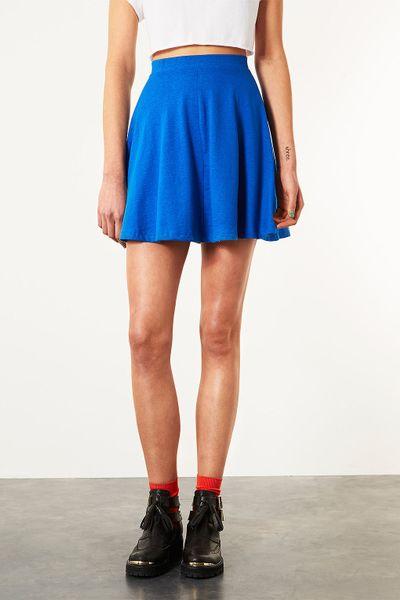 topshop bright blue skater skirt in blue bright blue lyst