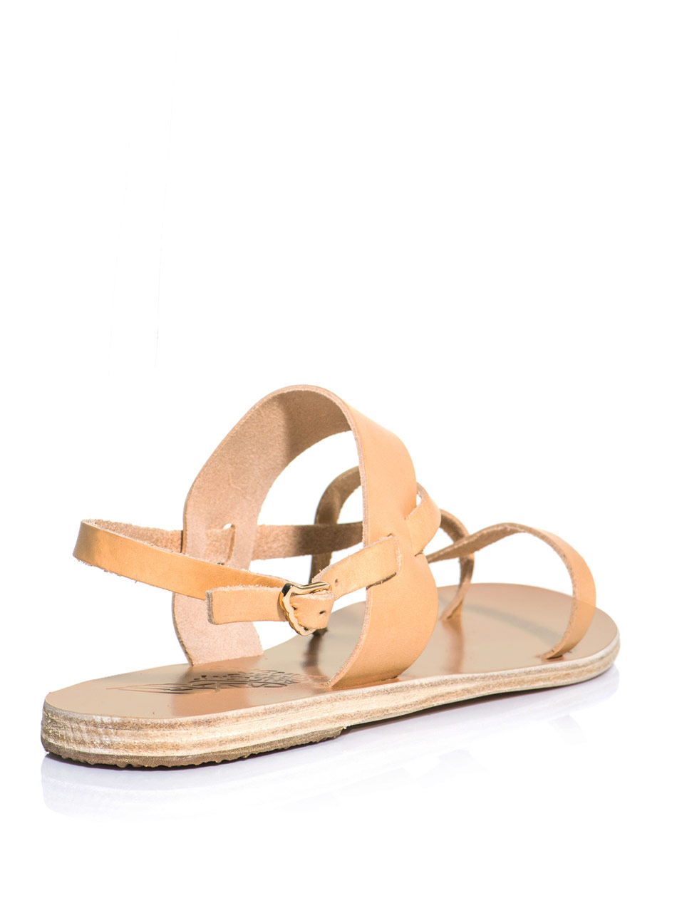 Lyst Ancient Greek Sandals Alethea Natural Leather