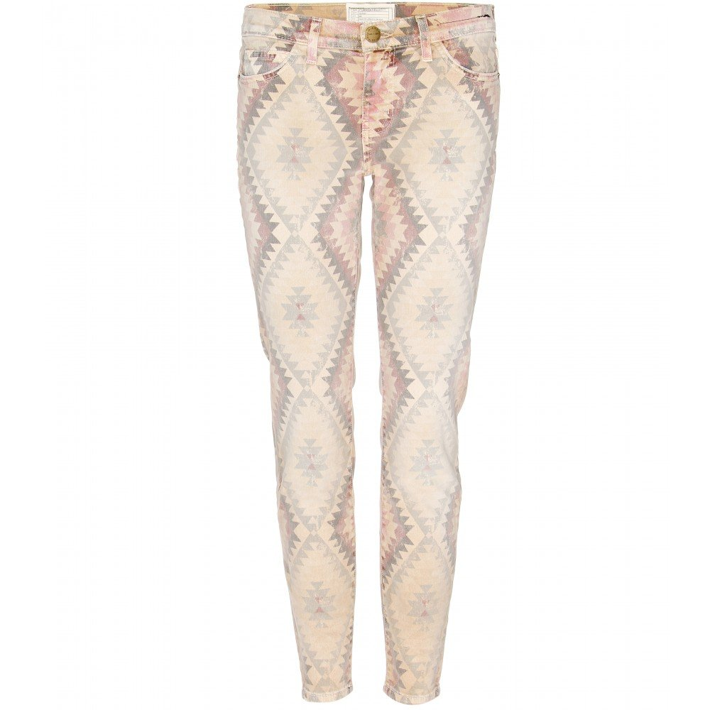 Current/elliott The Stiletto Print Skinny Jeans in Natural   Lyst