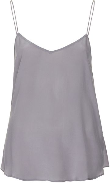 Topshop Silk Cami  in Purple (lilac)