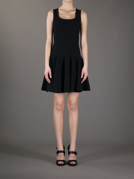 Alaia Dresses On Sale Pleat Dress in Black Alaa
