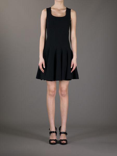Alaia Dresses On Sale Pleat Dress in Black Alaa