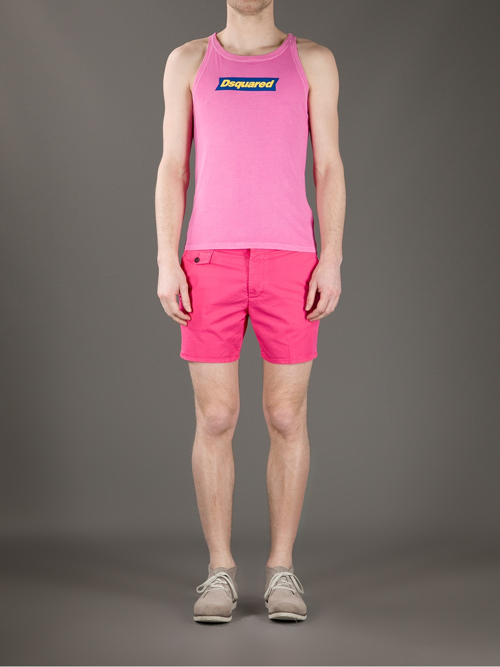 Dsquared² Chino Shorts in Pink for Men | Lyst