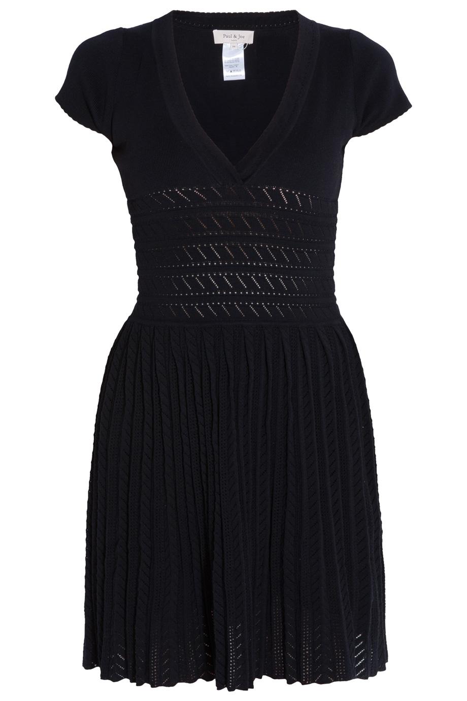 Lyst Paul Amp Joe Knit Pleat Skirt Dress In Black