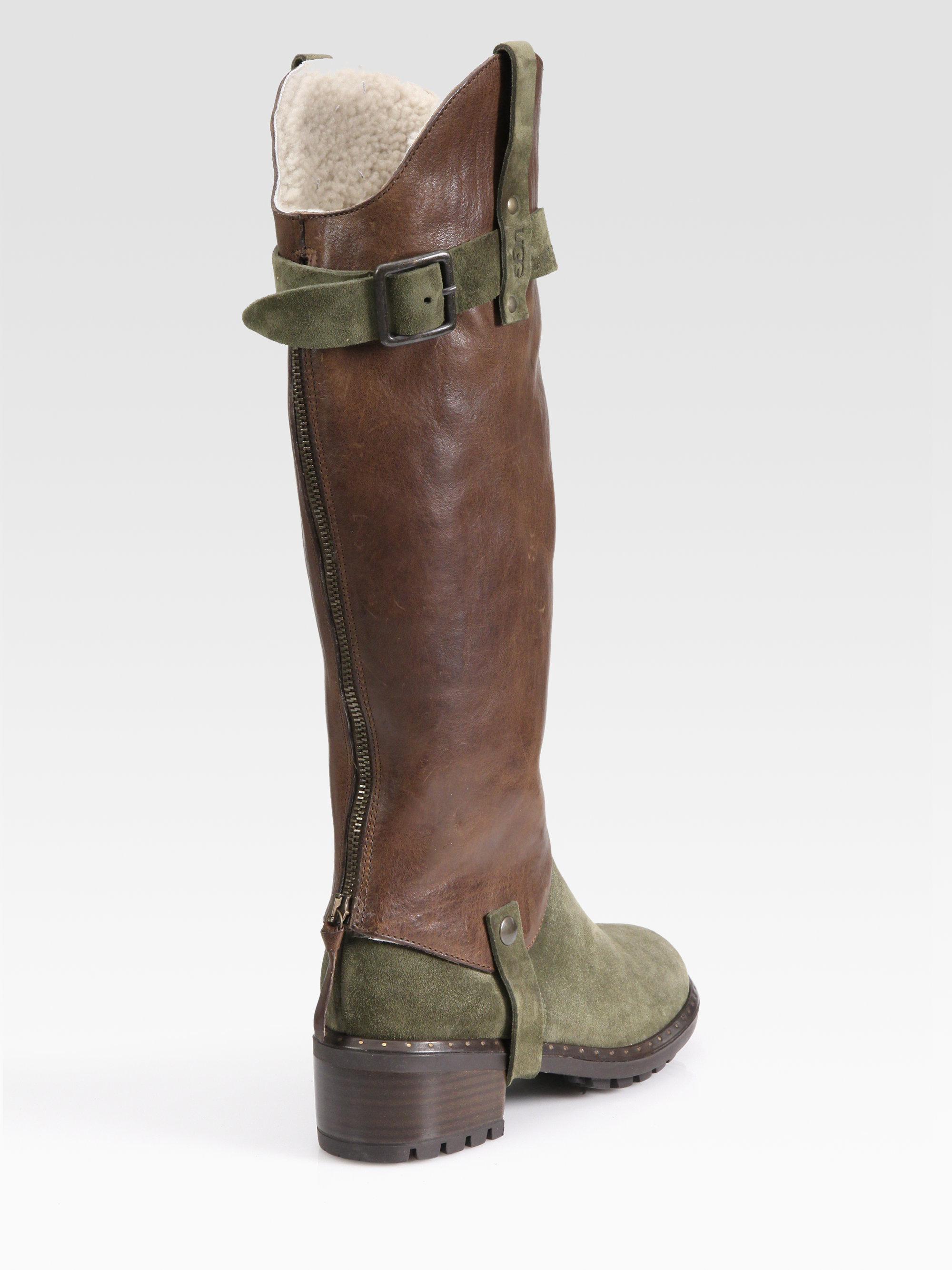 Knee high brown ugg boots