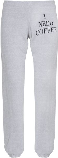 Wildfox I Need Coffee Track Pants - Lyst