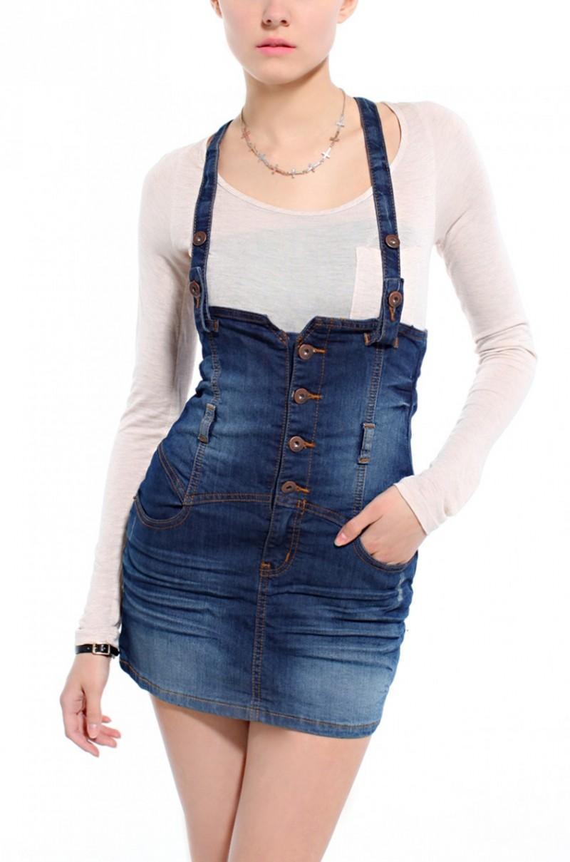 Overall Denim Skirt - Dress Ala