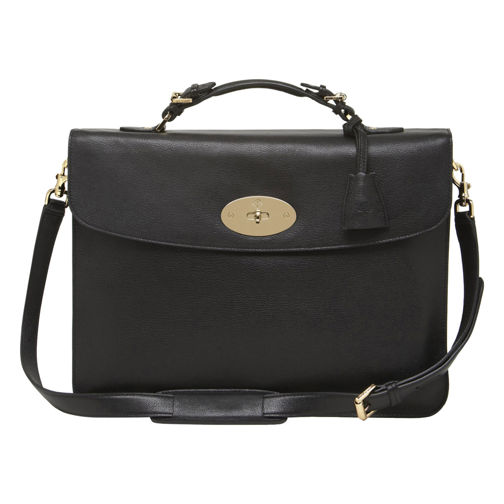 Mulberry Bayswater Briefcase in Black for Men