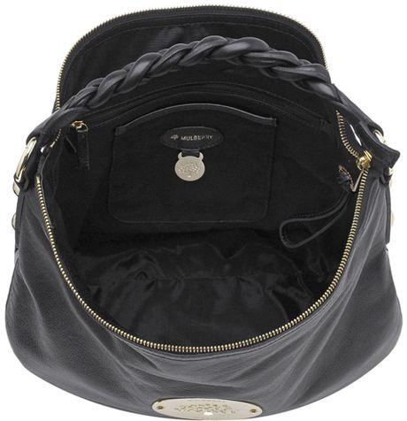 Mulberry Daria Medium Hobo Shoulder Bag Black 3