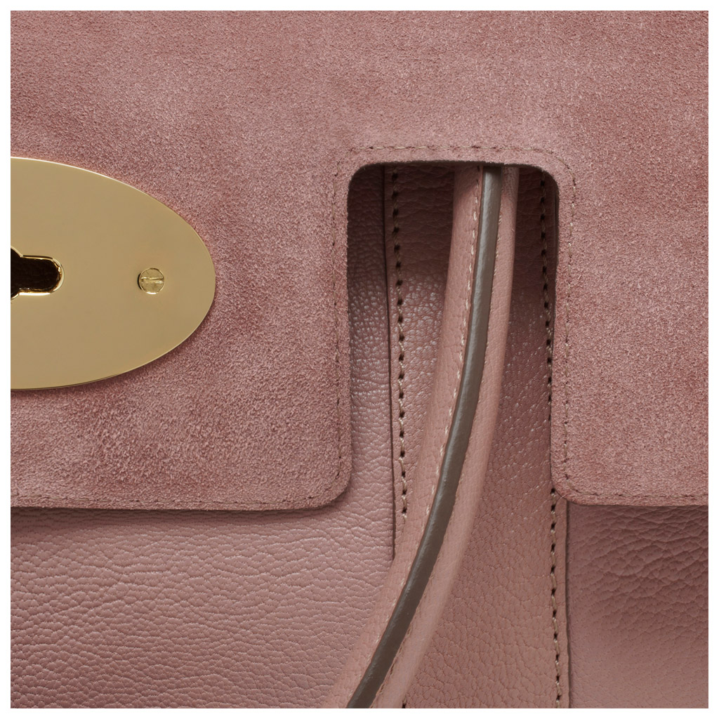 b728c15b88f2 ... wholesale lyst mulberry bayswater in purple d476a f60b1 usa mulberry  bayswater clutch in pink glossy goat ...