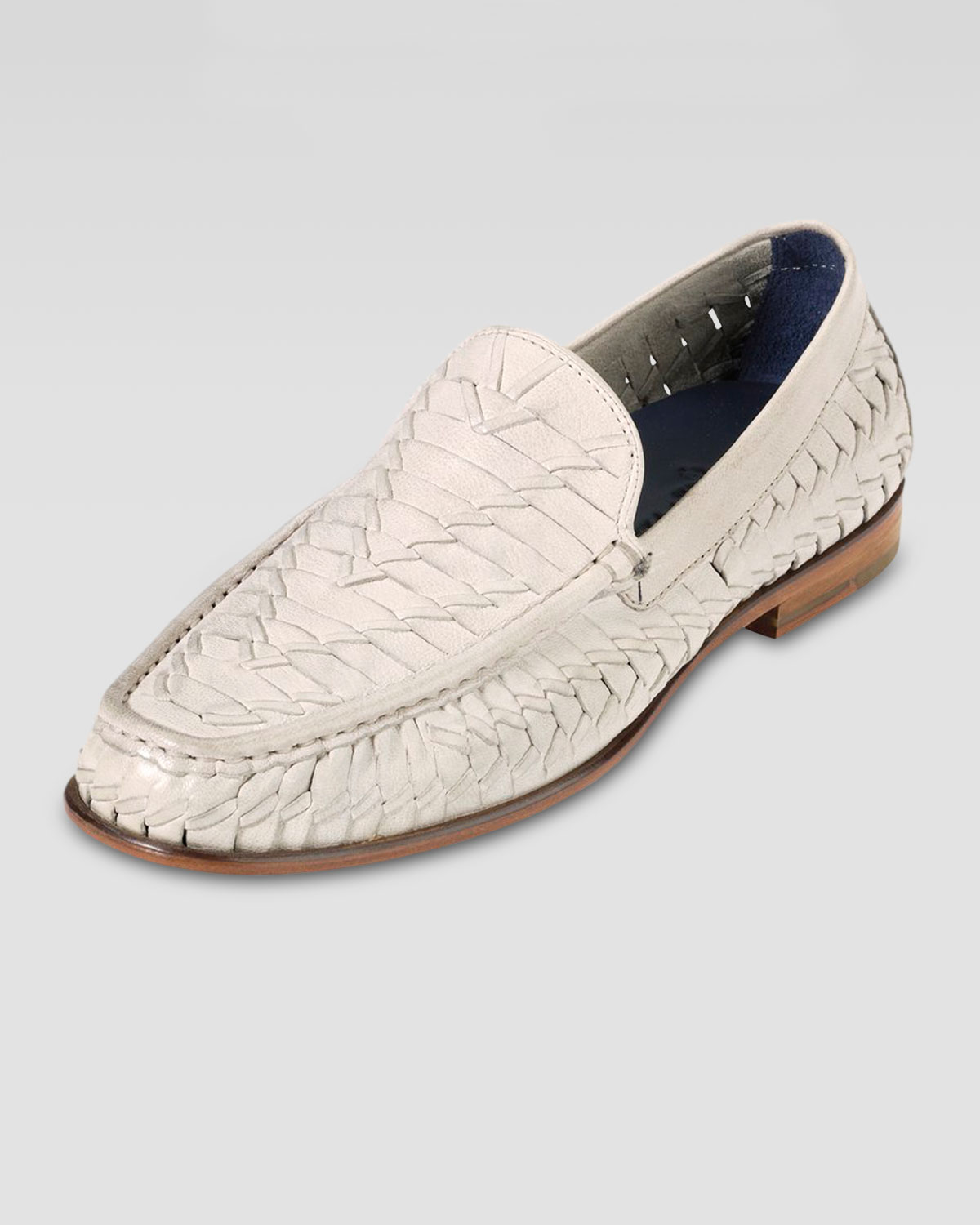 0255cfb552e11 Cole Haan Air Tremont Woven Leather Loafer in White for Men - Lyst