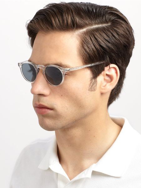 Oliver Peoples Gregory Peck Sunglasses In Blue For Men Lyst