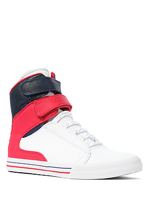 Lyst - Supra The Society Sneaker in White Raptor Tuf Red Suede Navy ... 94d67eaee25