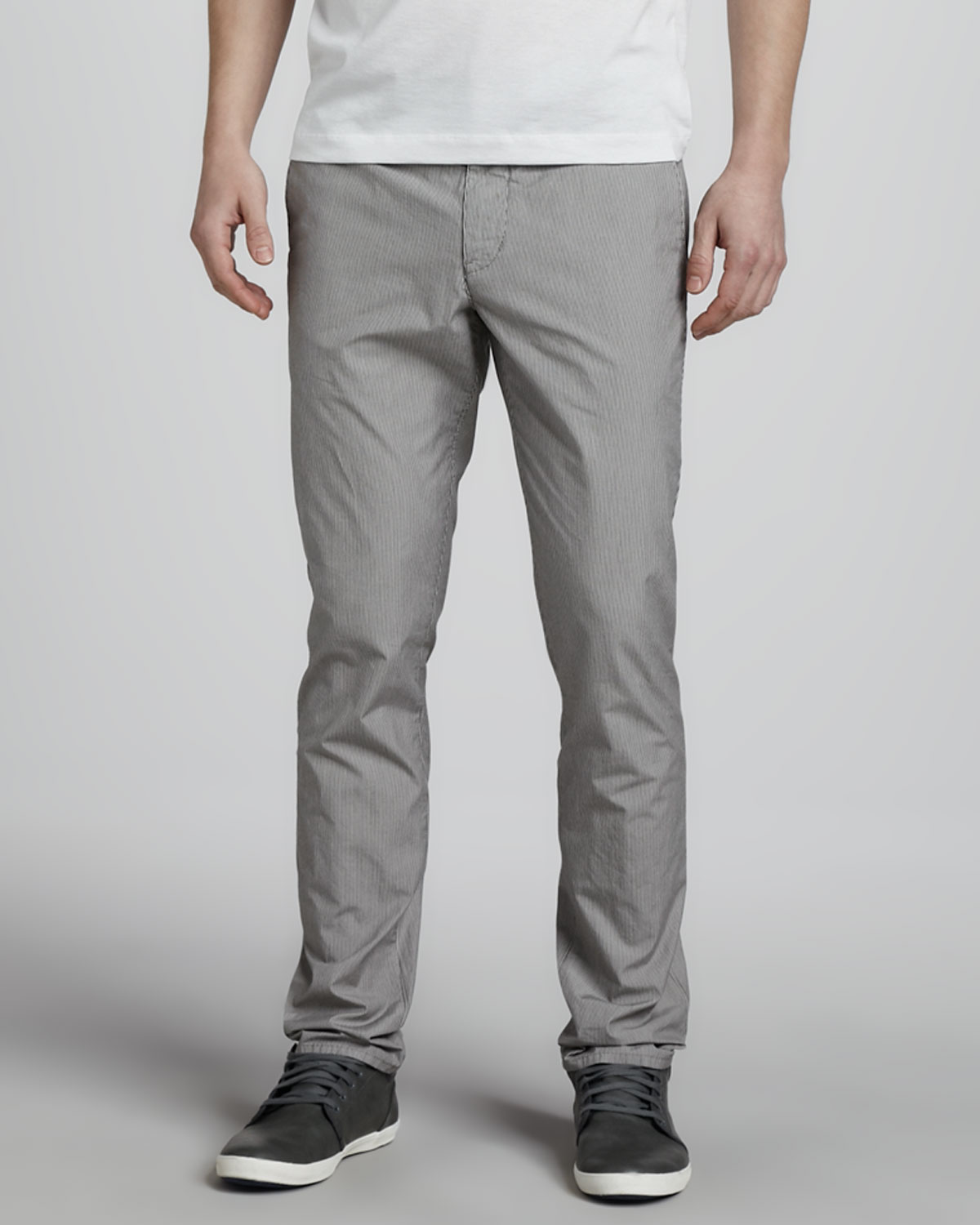 Theory Raffi T Chino Pants In Gray For Men Blue Lyst
