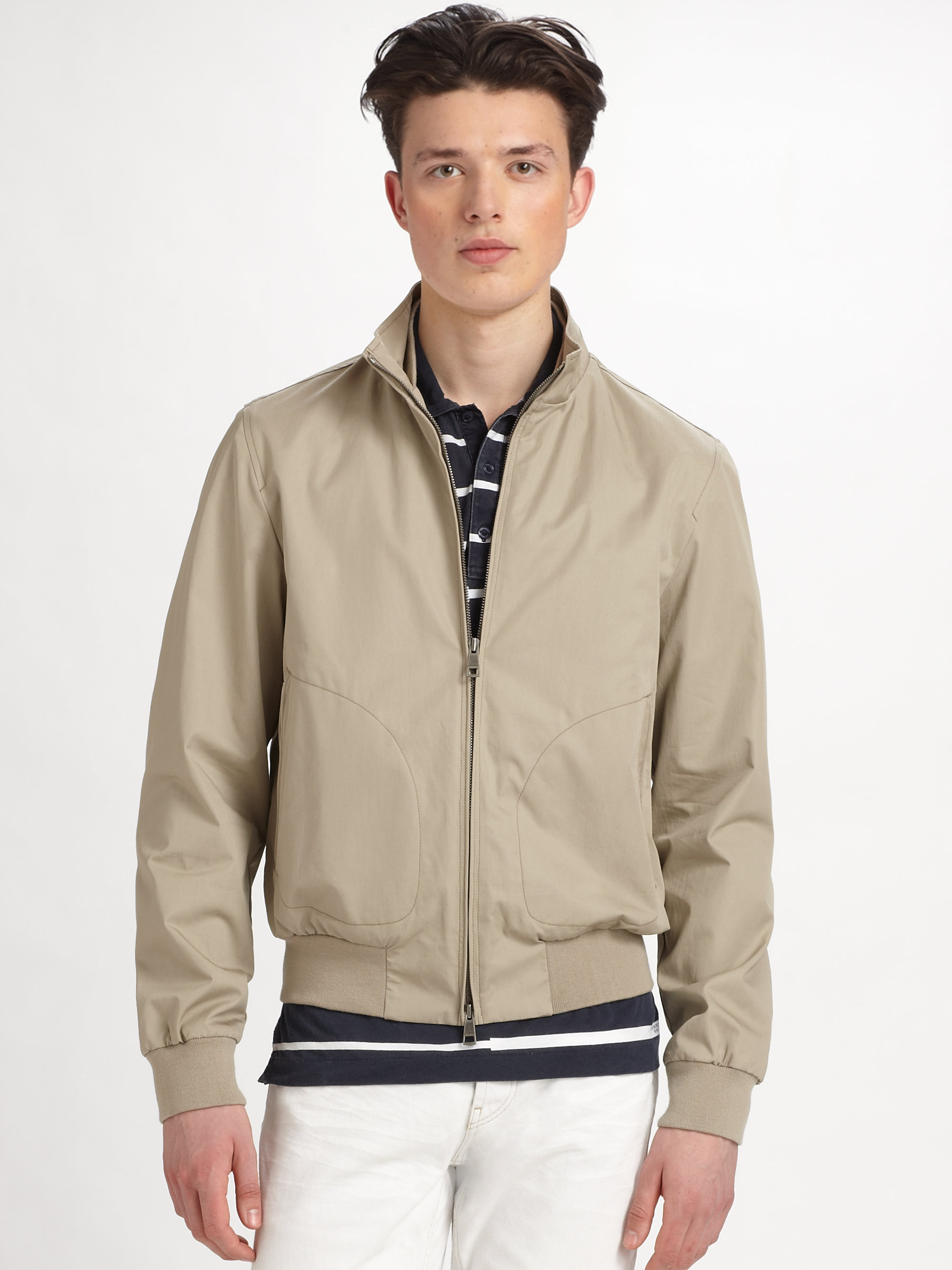 Burberry brit Lightweight Rain Jacket in Gray for Men | Lyst