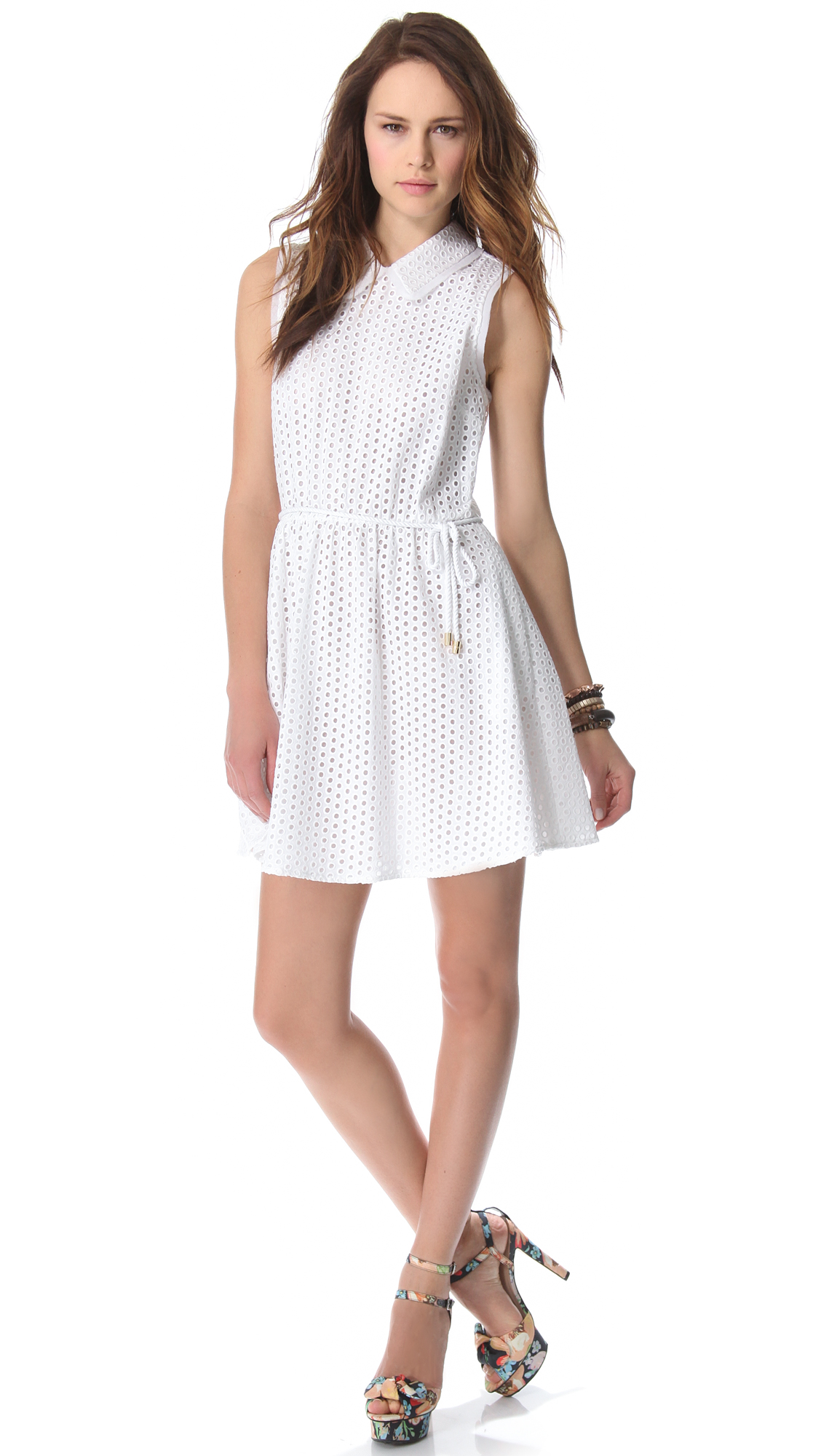Juicy couture eyelet dress in white lyst for A couture dress