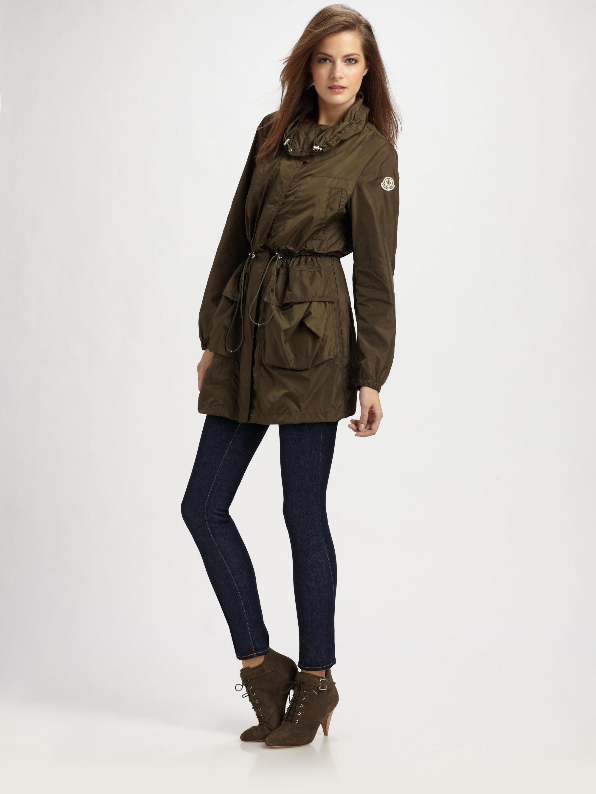moncler raincoat green