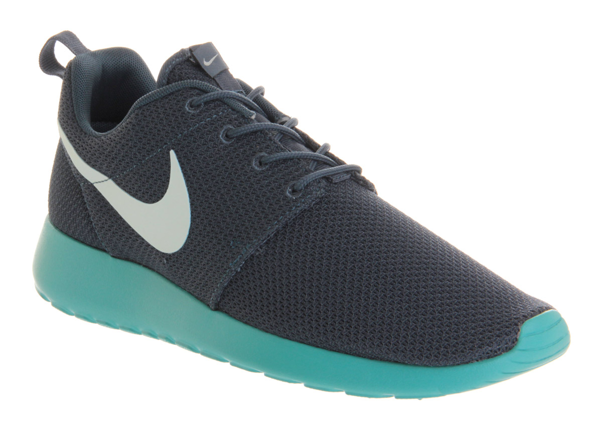 Lyst - Nike Roshe Run Squadron Blue Sport Turquoise in Blue for Men c77a0b71a1