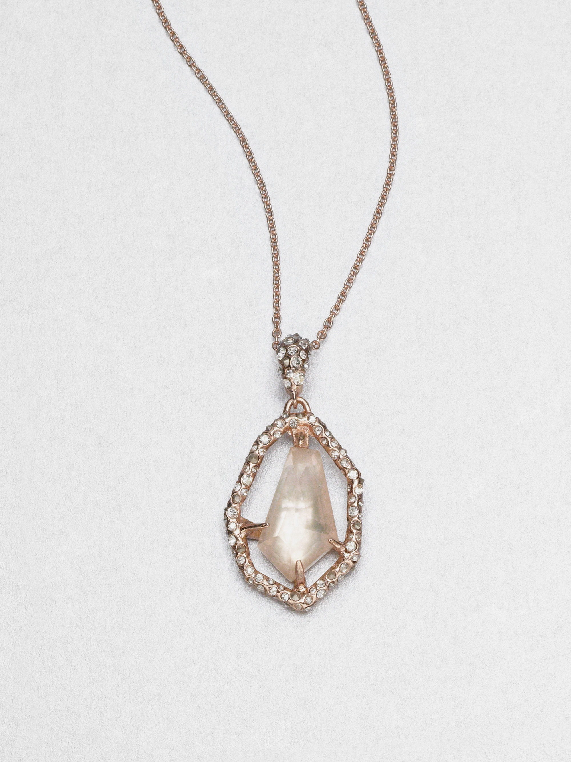 gold necklace in strawberry pendant vanilla le diamonds chocolate vian and tw with morganite