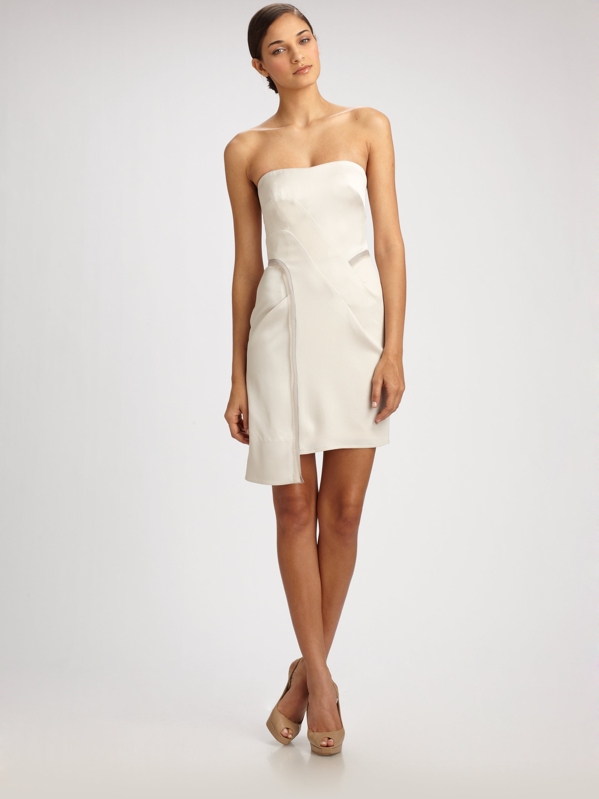 f73e170c81c Bcbg White Strapless Cocktail Dress - Gomes Weine AG
