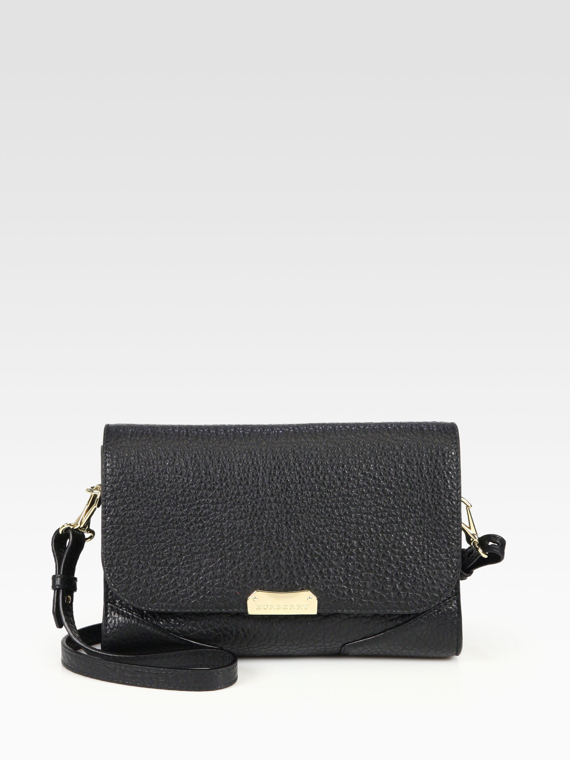 Lyst - Burberry Abbott Small Crossbody Bag in Black 22fe19f98