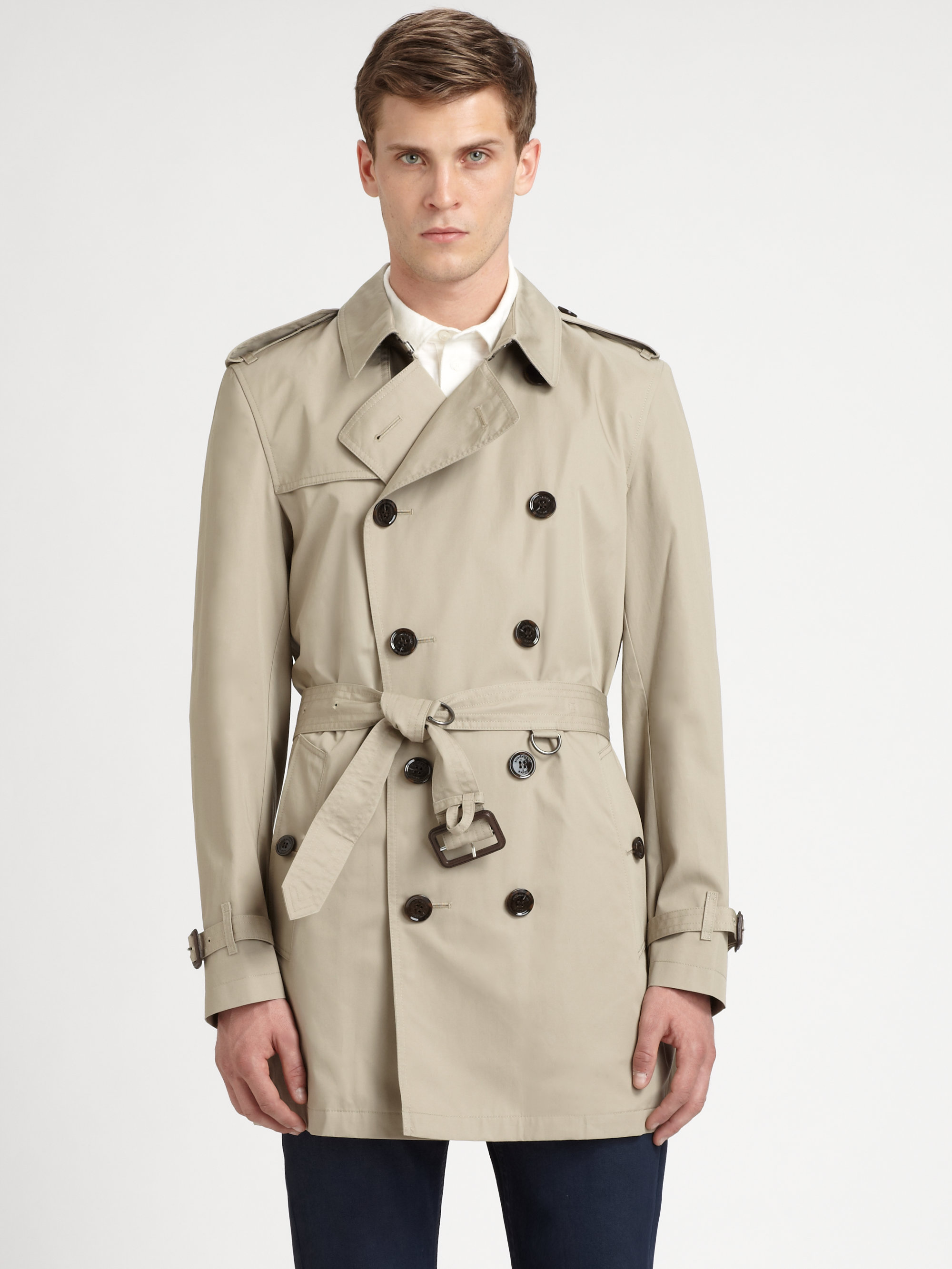a14288ec951a Burberry Brit Britton Double Breasted Trench Coat in Natural for Men ...