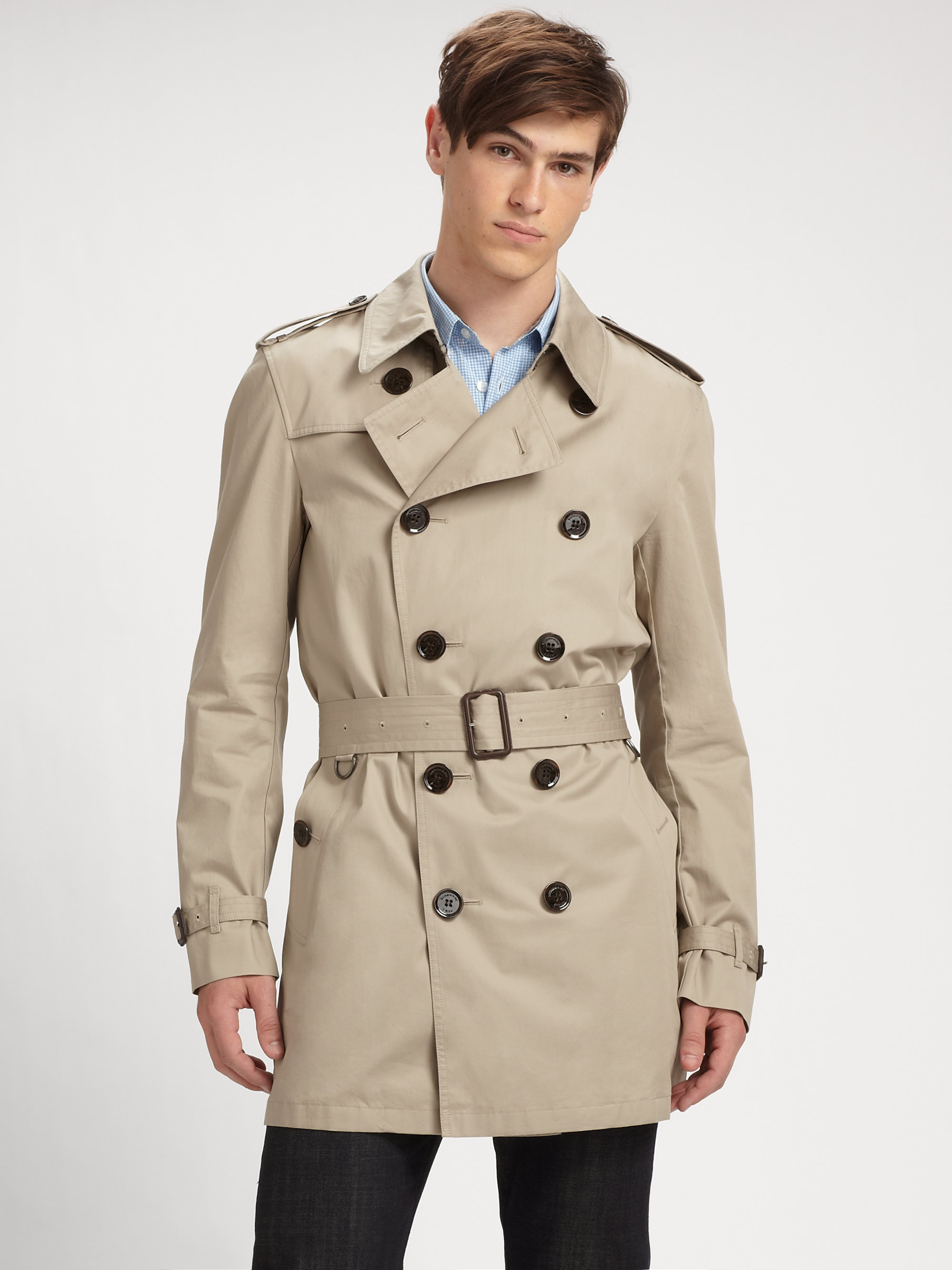a5ad64a4ec01 Lyst - Burberry Brit Trench Coat in Brown for Men