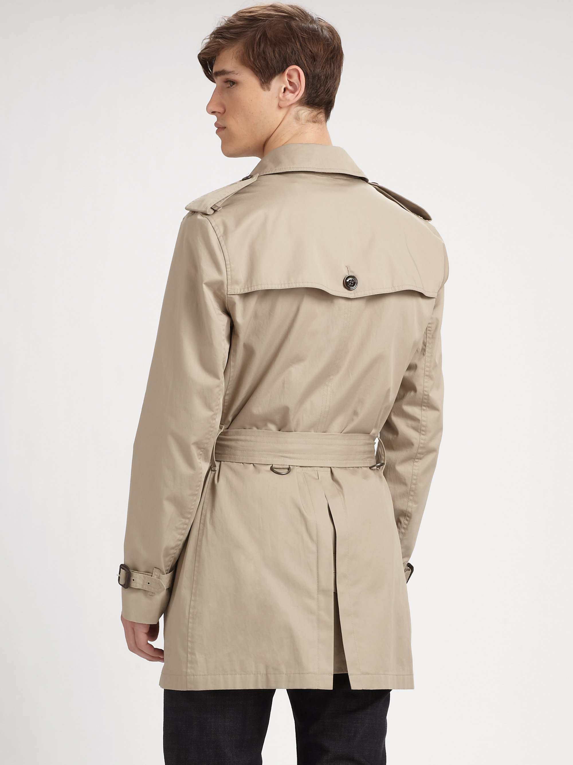 Lyst Burberry Brit Trench Coat In Brown For Men