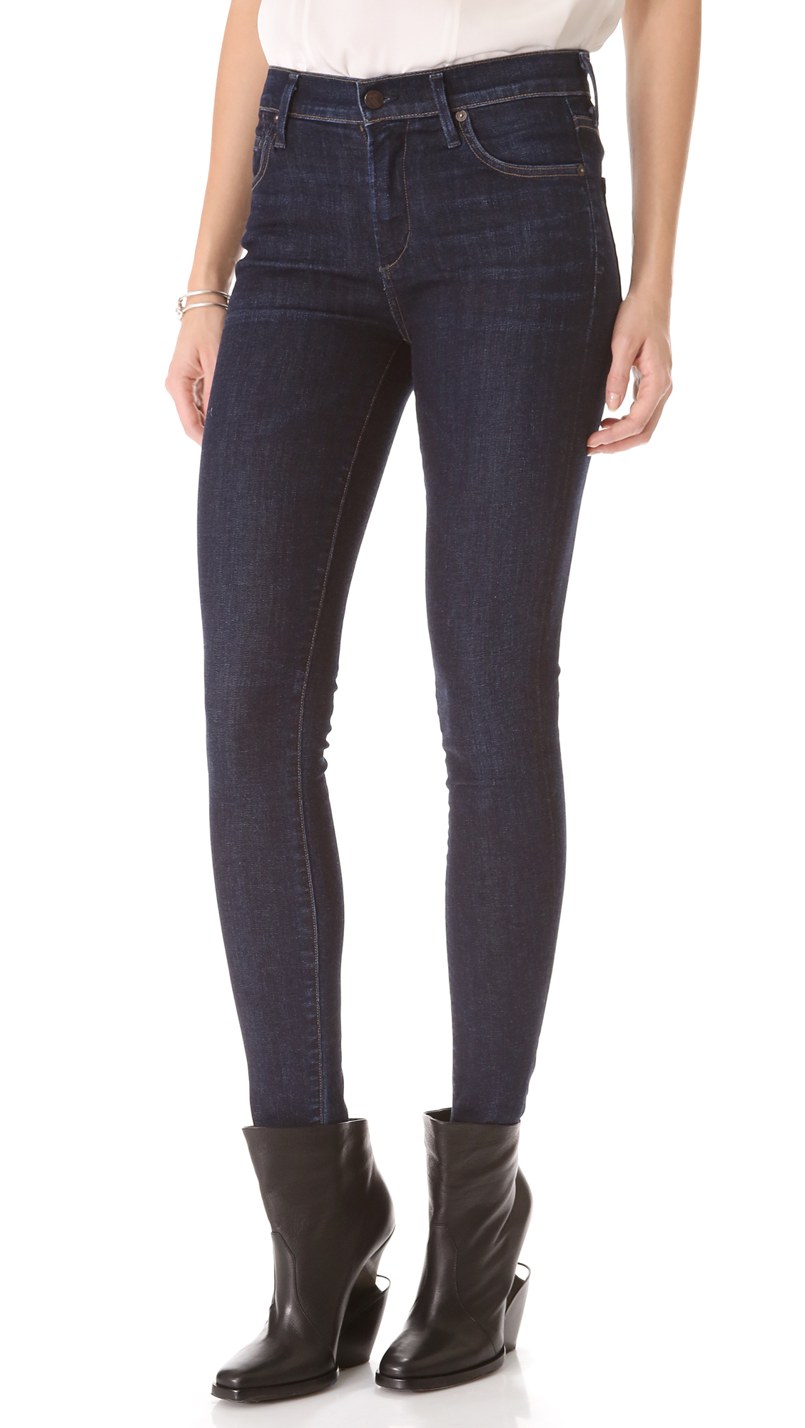 citizens of humanity rocket skinny jeans in blue lyst. Black Bedroom Furniture Sets. Home Design Ideas