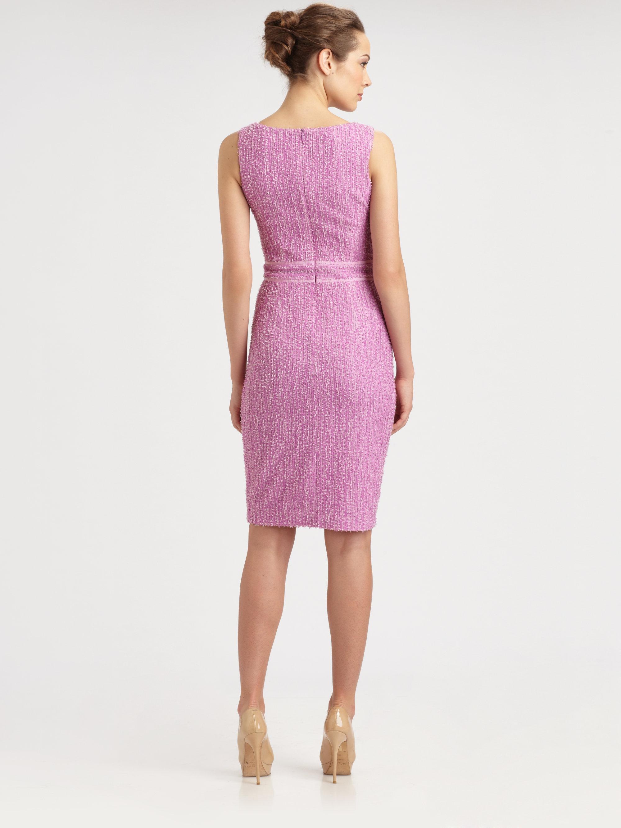 Lyst David Meister Sheath Day Dress In Purple
