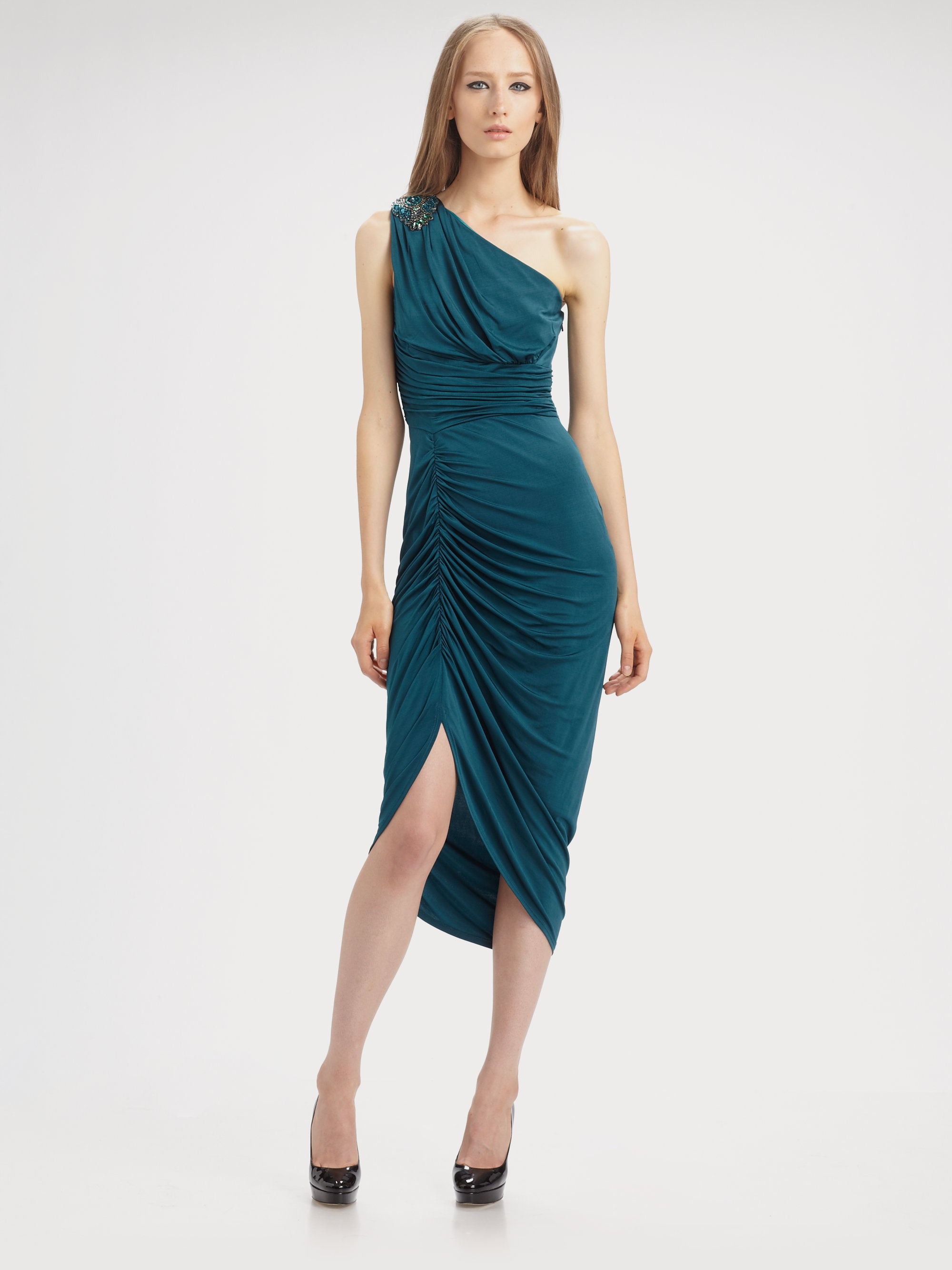 Teal One Strap Dress