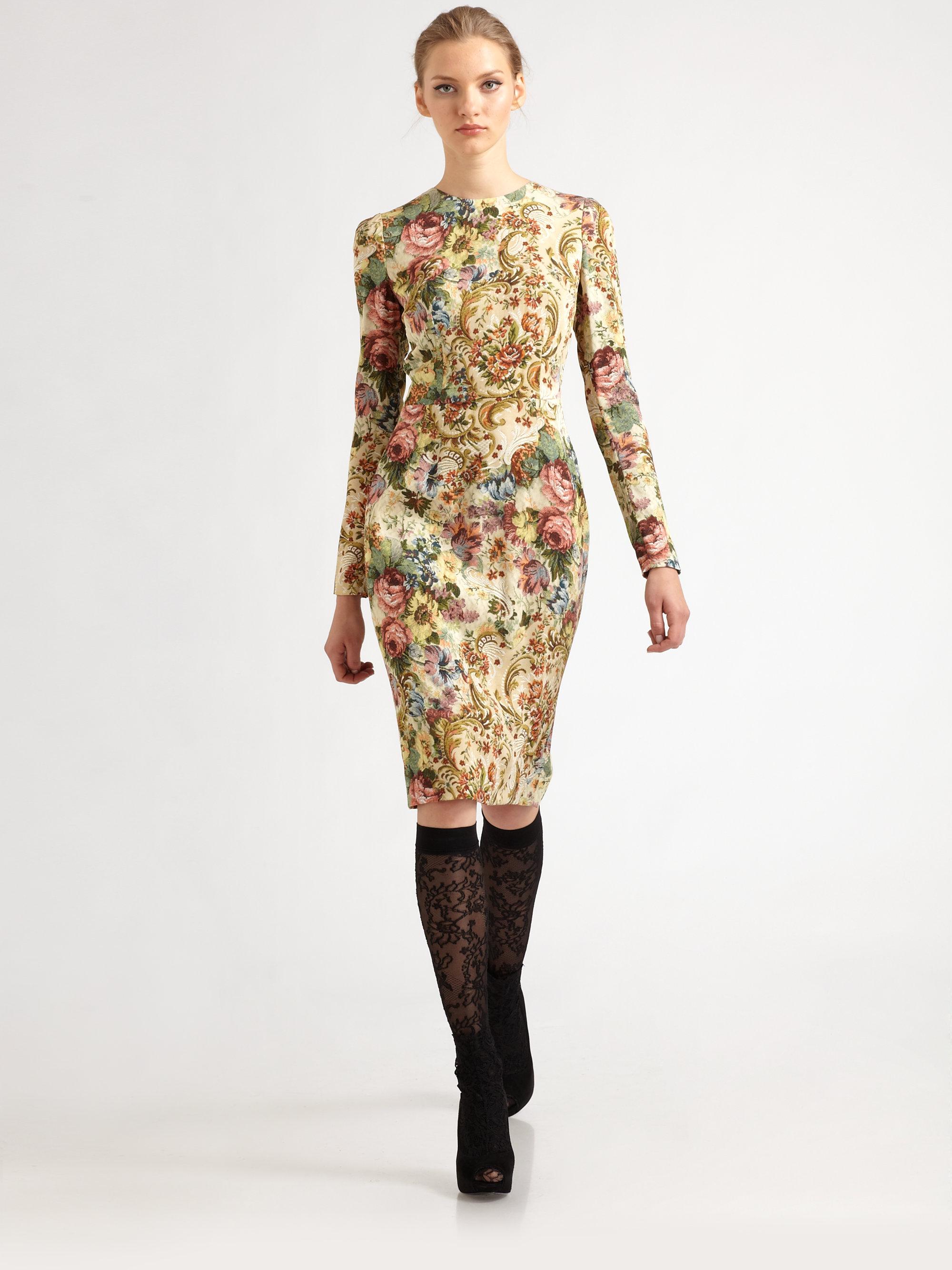 Lyst Dolce Amp Gabbana Tapestry Dress