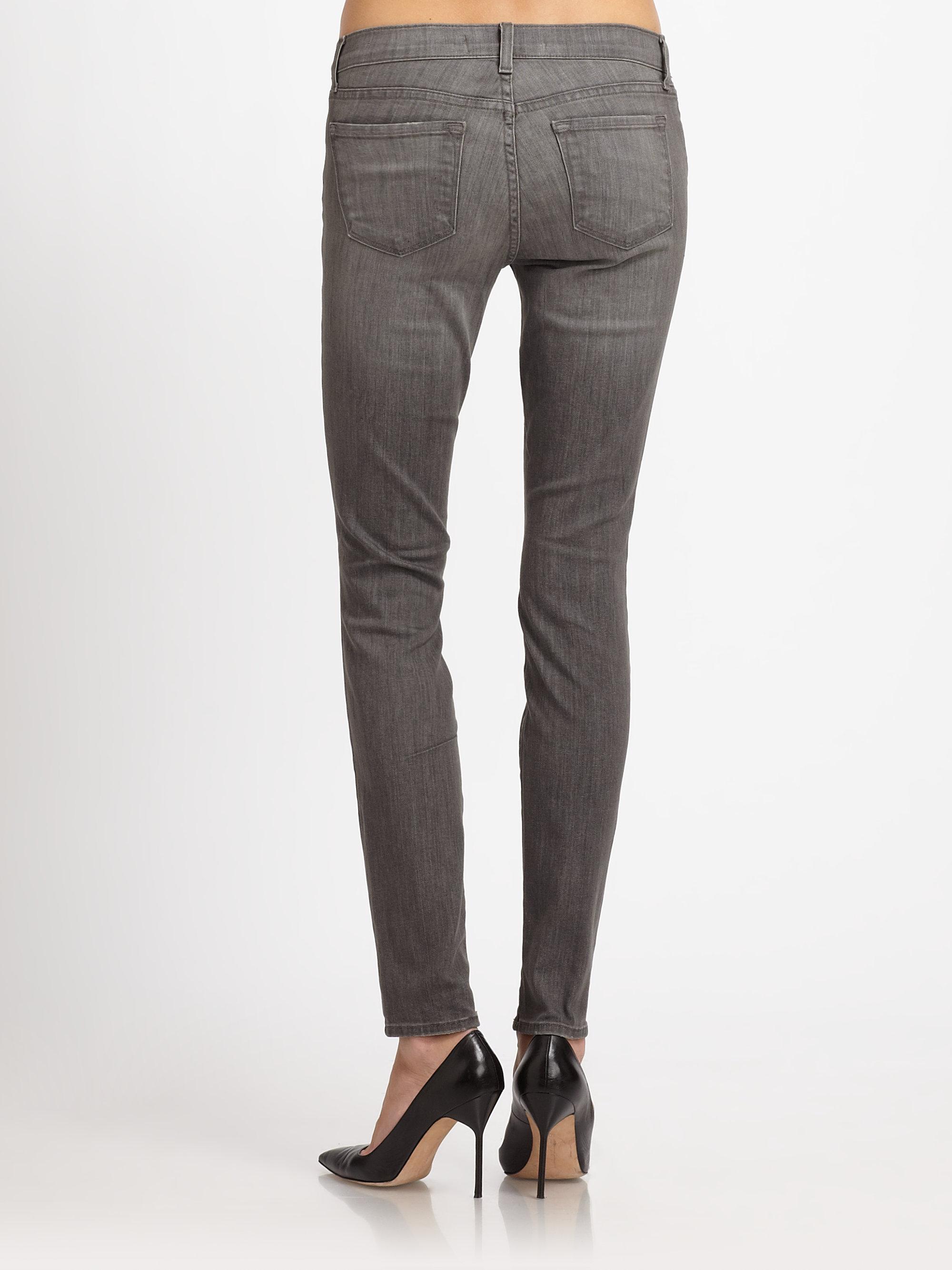 J brand Kingdom Distressed Skinny Jeans in Gray | Lyst