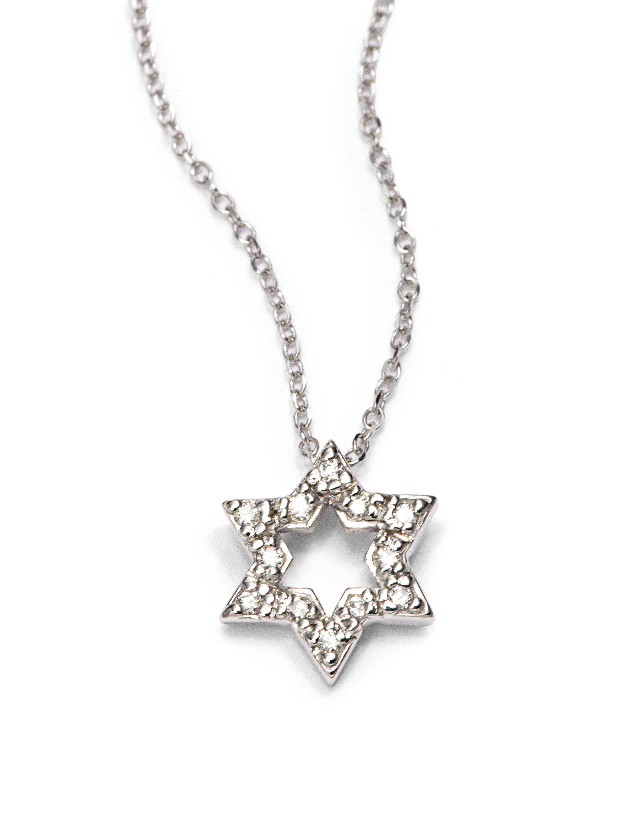 Kc designs Diamond Star David Pendant Necklace in Metallic